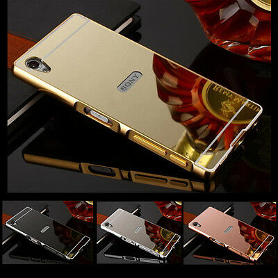 Luxury Aluminum Ultra-thin Mirror Metal Case Cover for Sony Xperia Z3 Z4 Z5 M4