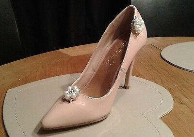 MINAS Sparkling Crystal Bridal & Ivory Faux Parl shoe clips 28mm