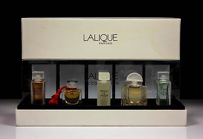 Art Deco Lalique 5 Collection Perfume Miniature Set 4.5Ml