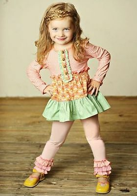 NWTIB Matilda Jane Girls Size 4 *Pink* Rachel Ruffled Leggings