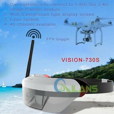 Upgraded Vision-730s 5.8G HDMI 40CH Wireless 3D Video Glasses for DJI Drones AU