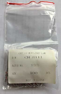 Chicago Miniature Lamp Ti Wire Lead 14V Part # 8111 100 Count