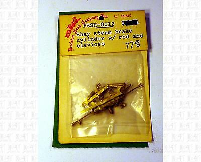Precision Scale O Brass Parts: Shay Steam Brake Cylinder With Rod & Clevice 8012
