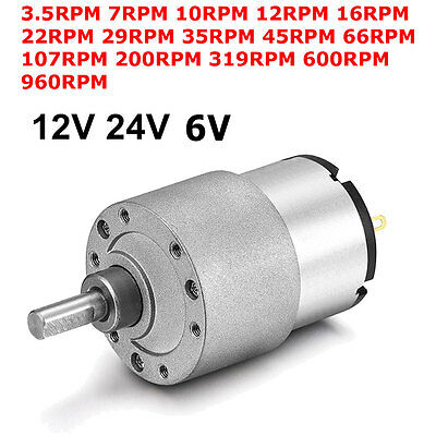 DC 6V 12V 24V Micro Gear Box Motor Speed Reduction Gearbox Centric Output Shaft