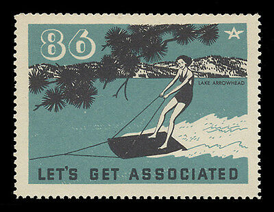 Associated Oil Company Poster Stamps Of 1938-9 - #86, Lake Arrowhead
