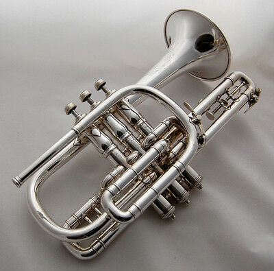 Beautiful Meredith Open Tone Cornet - Rare Model 5 - Early 1900's