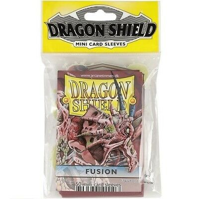 Dragon Shield Mini Size Yugioh Card Barrier Protector Sleeves 50ct - Fusion