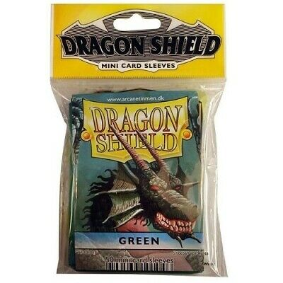 Dragon Shield Mini Size Yugioh Card Barrier Protector Sleeves 50ct - Green