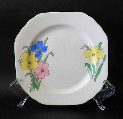 Foley China E. Brain & Co Hand Painted Floral Side Plate England C1936 Art Deco