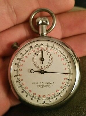 Very rare Paul Dominique working stop Watch Vtg