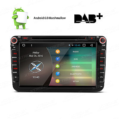 "Android 6.0 8"" GPS WiFi Car DVD Player Stereo VW Passat Golf Touran Jetta Seat"