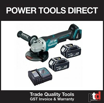 New Makita Brushless 18V Cordless Dga505Z 115Mm Angle Grinder Kit Paddle Switch
