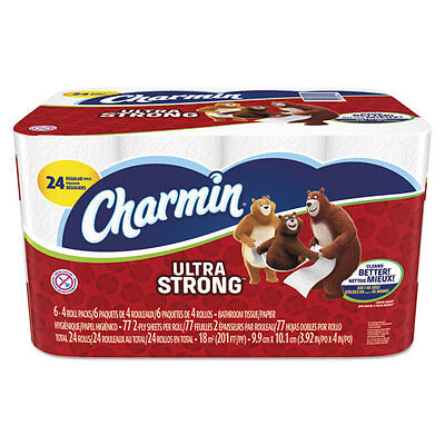 Charmin Ultra Strong Bathroom Tissue, 2-Ply, 4 x 3.92, 77/Roll, 24 Roll/Pack