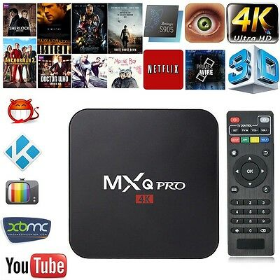 MXQ Pro 4K Amlogic S905 Smart TV Box 64Bit Quad Core Android5.1 XBMC Movie 1G+8G