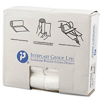 Inteplast Group High-Density Can Liner, 24 x 33, 16gal, 6mic, Clear, 50/Roll...