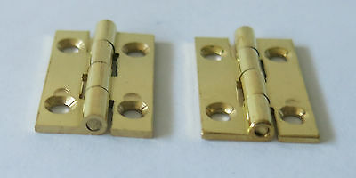 2 X SOLID BRASS HINGE 25 X 16mm