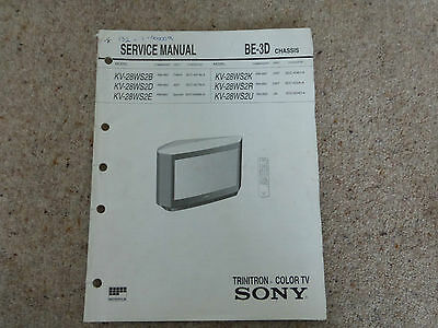 Sony Be-3D Tv Chassis Full Service Manual