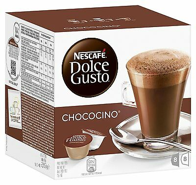 Dolce Gusto Chococino Coffee (6 Boxes,Total 96 Capsules ) 48 Servings