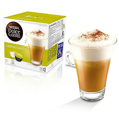 Dolce Gusto Cappuccino Coffee (6 Boxes,Total 96 Capsules ) 48 Servings