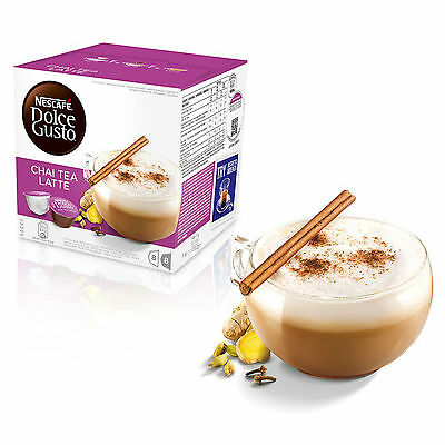 Dolce Gusto Chai Latte Machiato Coffee (6 Boxes,Total 96 Capsules ) 48 Servings