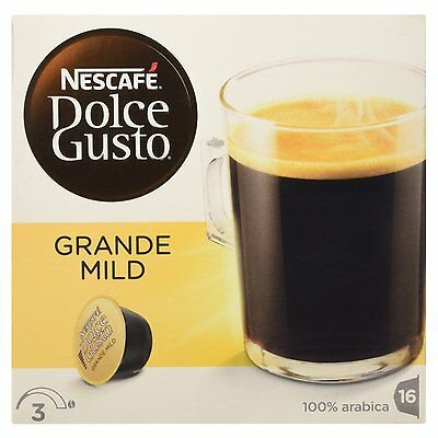 Dolce Gusto Grande Mild Coffee (3 Boxes,Total 48 Capsules ) 48 Servings