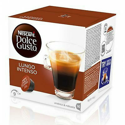 Dolce Gusto Lungo Intenso Coffee (6 Boxes,Total 96 Capsules ) 96 Servings