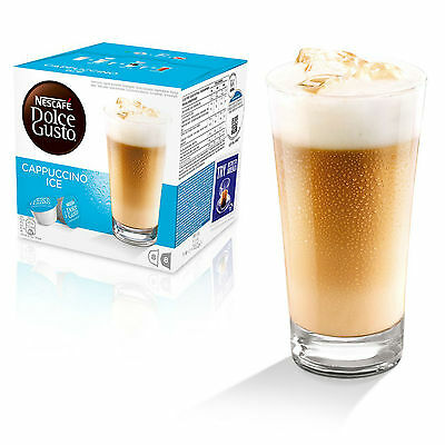 Dolce Gusto Cappuccino Ice Coffee (6 Boxes,Total 96 Capsules ) 48 Servings