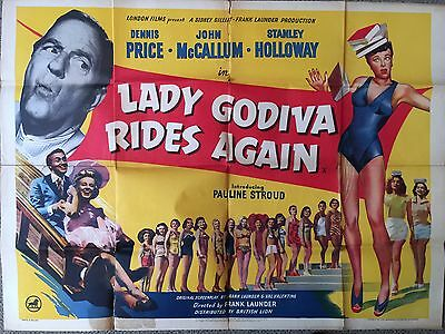 LADY GODIVA RIDES AGAIN (1951) - Original Vintage Film Poster - UK Quad