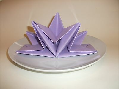 LILAC NAPKINS  12 LUXURY AIRLAID PRE FOLDED STAR wedding dinner party serviettes