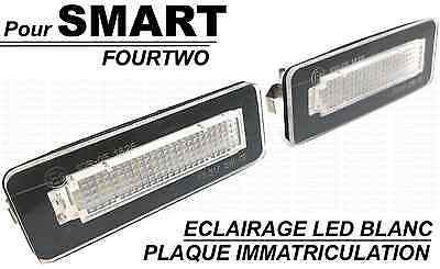 LED LICENSE PLATE LIGHT WHITE XENON SMART FORTWO W450 W451 W453 cdi brabus turbo