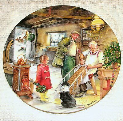 Royal Doulton Bradford Exchange PLATE Christmas Country Crafts SLEDGEMAKER