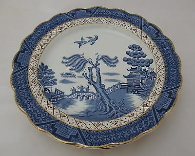 """VINTAGE Booths REAL OLD WILLOW A8025 five 9½"""" luncheon plates"""