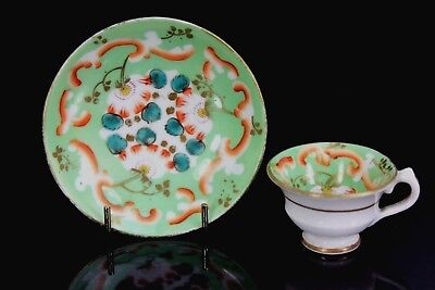 Antique Staffordshire Miniature Cup & Saucer C.1860+