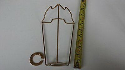 "7"" ES Gold coated shade carrier to support a lampshade with duplex fitting"