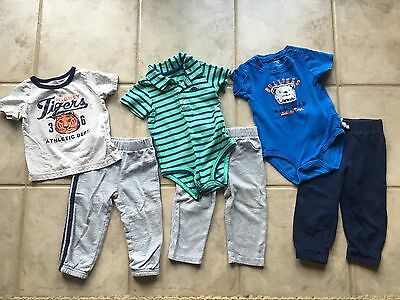 Boys Carters Sets, Size 18 Months, Lot Of 3 Outfits, Pants Short Sleeve