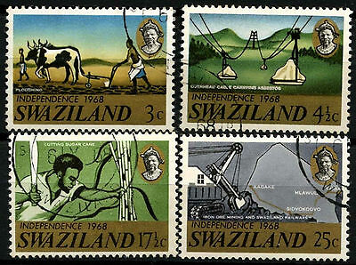 Swaziland 1968 SG#137-140 Independence Cto Used Set #D40276