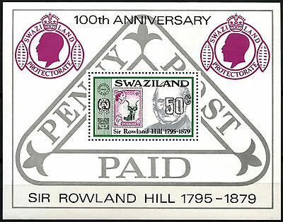 Swaziland 1979 SG#MS326 Sir Rowland Hill MNH M/S #D40234