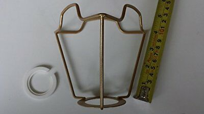 4 inch ES Gold coated shade carrier to support a lampshade with duplex fitting