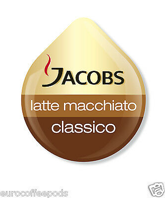 Tassimo Jacobs Latte Macchiato Coffee 24 T Disc 12 Servings Sold Loose