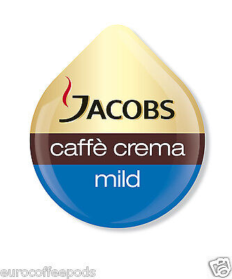 48 x Tassimo Jacobs Caffe Crema Mild Coffee T disc Sold Loose, 48 Drinks