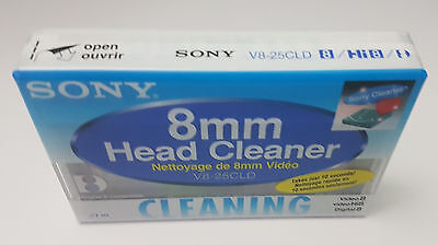 Sony V8-25CLD 8mm / Hi8 / Digital8 Camcorder Video Head Cleaning  BRAND NEW!
