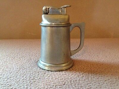Vintage Evans Table Lighter Stein Made In The USA Stieff Pewter