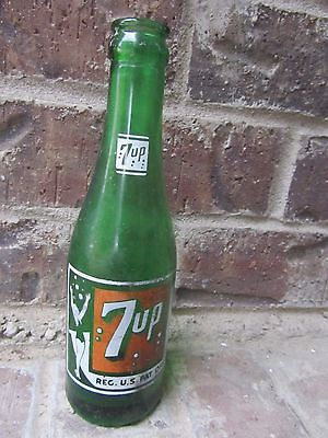 1946 7oz 7UP SEVEN UP Swimsuit Lady ACL Soda Bottle - ALBUQUERQUE New Mexico NM