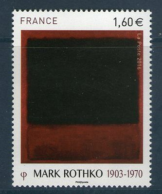 Timbre Neuf 5030  Xx Luxe - Oeuvre De Mark Rothko - Black, Red Over Black On Red
