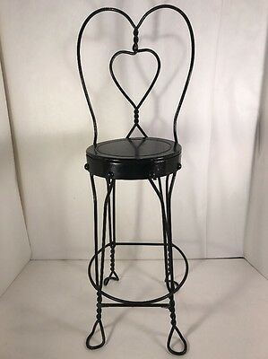 Small Child's Wrought Iron Ice Cream Parlor Chair