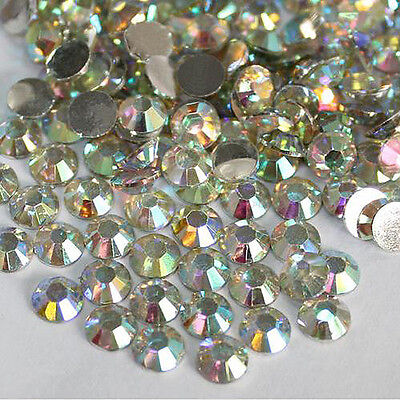 1000x 14 Facets Resin Rhinestone Gem Flat Back Crystal AB Beads 3mm DIY New Hot