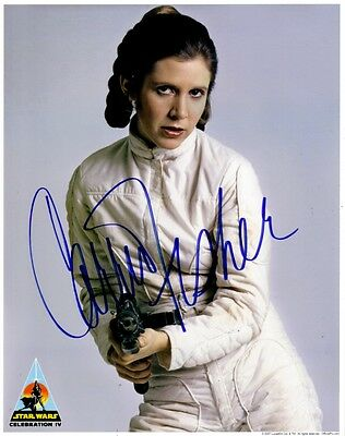 STAR WARS Autograph PP Signed Photo Princess Leia Carrie Fisher COA Hologram