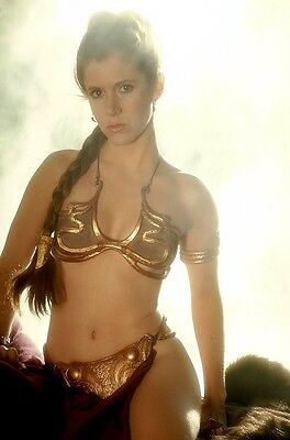 Princess Leia Gold Bikini Photo Print STAR WARS Carrie Fisher Return of The Jedi