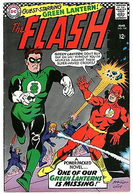 Flash #168. Vol1. DC Mar 1967. Green Lantern App. Broome, Infantino. FN+/VFN-