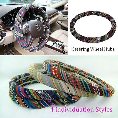 38cm Auto Ethnic Style Universal Padded Foam Steering Wheel Cover Anti Slip 04
